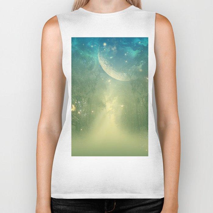 Mystical forest Biker Tank