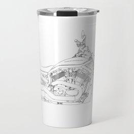 a motorcycle Travel Mug