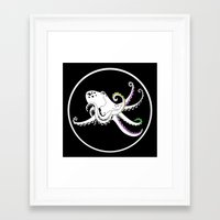 octopus Framed Art Prints featuring Octopus by mailboxdisco