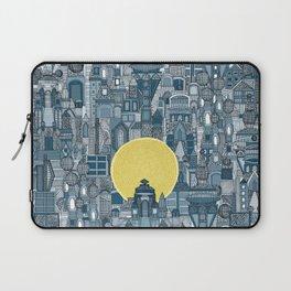space city sun blue Laptop Sleeve