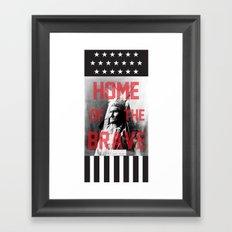 Home of the Brave Framed Art Print