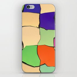 Distorted Color Cubes iPhone Skin