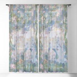 Garlic Lilies Water Lilies Fine Art Parody Sheer Curtain