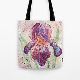 beauTEAful blooms: Iris Tote Bag