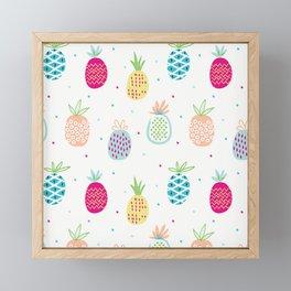 Pineapples Framed Mini Art Print