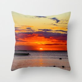 Boat Silhouette Throw Pillow