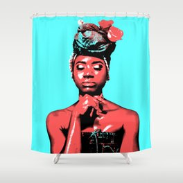 Blue Skies and Apples Shower Curtain