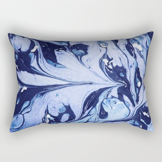 Dark and Bright and Blue Rectangular Pillow