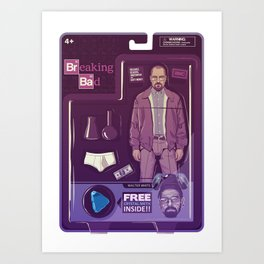 BREAKING BAD ACTION FIGURES - Walter Art Print