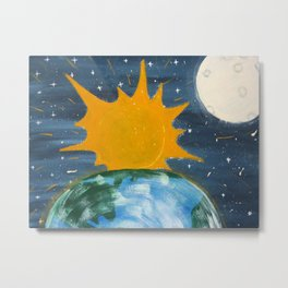 He Hung the Sun and The Moon Metal Print