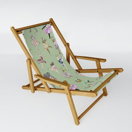Animal Ballet Hipsters - Green Sling Chair
