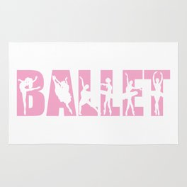 Ballet in Light Pink with Ballerina Cutouts Rug