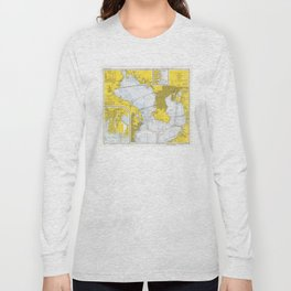 Vintage Map of Tampa Bay FL (1973) Long Sleeve T-shirt