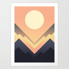 The Sun Rises Art Print