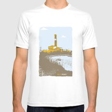 TLV port White Mens Fitted Tee MEDIUM