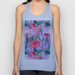 Australian Gumnut Eucalyptus Floral in Lilac Orchid Unisex Tank Top