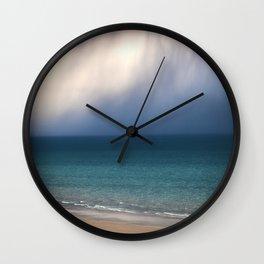 Beach, Sea, Sun and Clouds Wall Clock