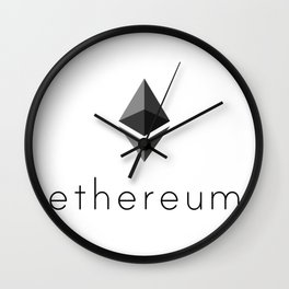 Ethereum | Cryptocurrency Lovers Gift Wall Clock