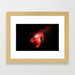 Hell Hound Cortavis (red) Framed Art Print