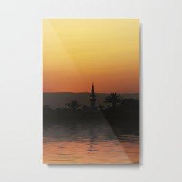 Nile Sunset Metal Print