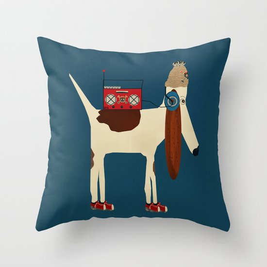 bootleg beagle  Throw Pillow