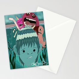 """Aquaboy"" by Kieran David Stationery Cards"