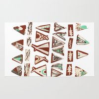 pee wee Area & Throw Rugs featuring Tee-Pee by Colette Reders