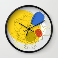 simpsons Wall Clocks featuring Simpsons Van D'oh by Jason Adams