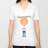 napoleon V-neck T-shirts featuring Napoleon Dynamite by Creo tu mundo