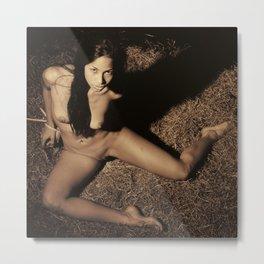 Photograph Bondage Style Nude Woman Metal Print