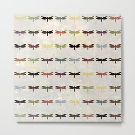 Dragonfly pattern v3 Metal Print