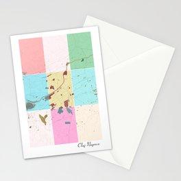 Cluj-Napoca, Romania, city map Stationery Cards