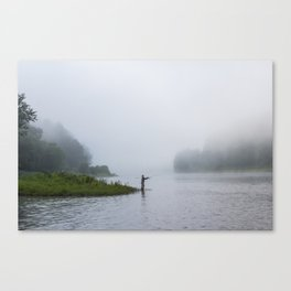Morning Fishing Canvas Print