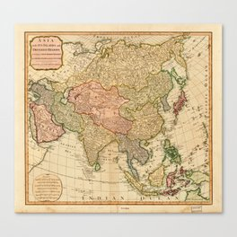 Map of Asia by Robert Laurie and James Whittle (1799) Canvas Print