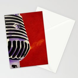 Microphone Painting Stationery Cards