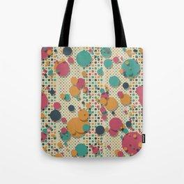 """""""Retro Confetti Polka Dots"""" Tote Bag"""