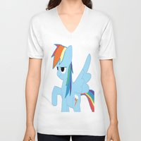 pony V-neck T-shirts featuring pony by Dore