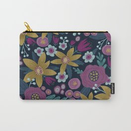 Moody Floral Carry-All Pouch