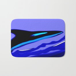 Whale Abstract Art by Saribelle Rodriguez Bath Mat