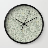 it crowd Wall Clocks featuring crowd by Ed Hepp