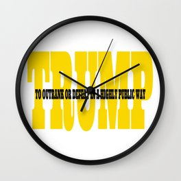 Trump Gold Definition Wall Clock