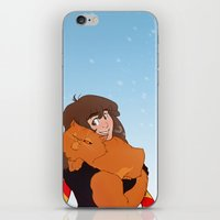 hermione iPhone & iPod Skins featuring Hermione and Crookshanks by AnimonInk