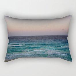 Beach and sky at sunset time Rectangular Pillow