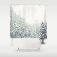 wonderland Shower Curtains featuring Wonderland by Emma Deer