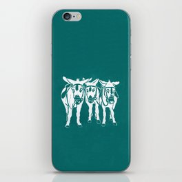 Seaside Donkeys in Turquoise iPhone Skin