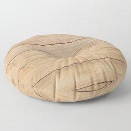 Wood plank Floor Pillow