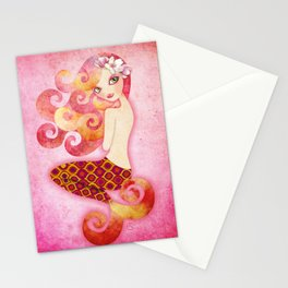 Coraleen, Mermaid in Pink Stationery Cards