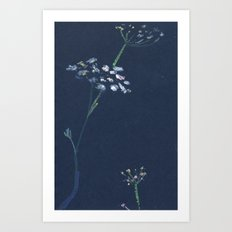 umbrella flower Art Print