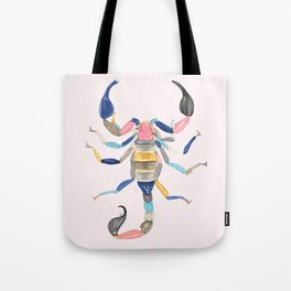 Technicolor Scorpion Tote Bag