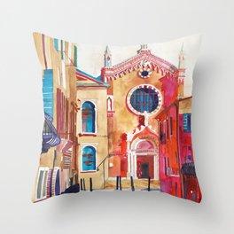 Chiesa della Madonna dell'Orto, Venice Throw Pillow
